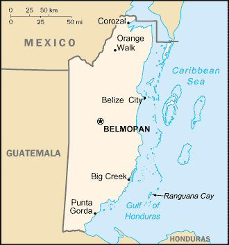 Carte de Belize